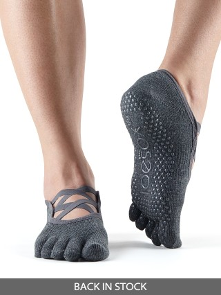 ToeSox Elle Barre Sock Charcoal Grey
