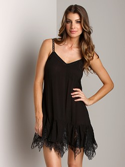 Free People Voile Godet Slip Black