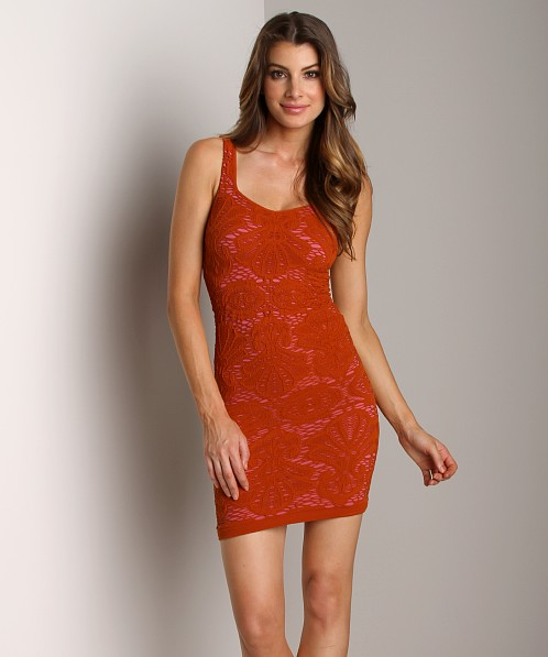 Free People Medallion Slip Crimson