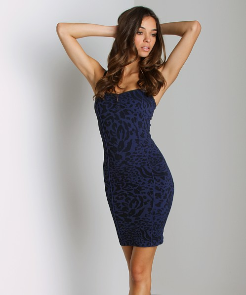 Free People Seamless Animal Slip Navy