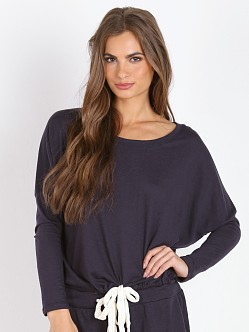 Eberjey Heather Slouchy Tee Deep Sea