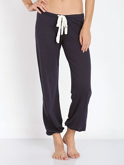 Eberjey Heather Cropped Pant Deep Sea