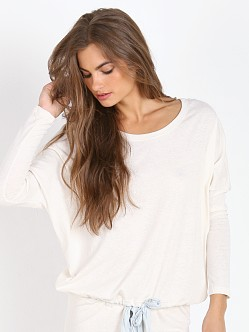 Eberjey Heather Slouchy Tee Milky Way