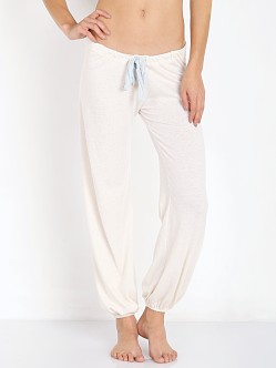 Eberjey Heather Cropped Pant Milky Way