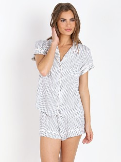 Eberjey Sleep Chic Short PJ Set Deep Sea Textile