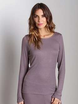 Calvin Klein Savoy Long Sleeve PJ Top Sparrow