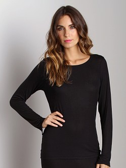 Calvin Klein Savoy Long Sleeve PJ Top Black