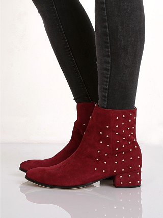 Model in mulled wine Raye Kitt Boot