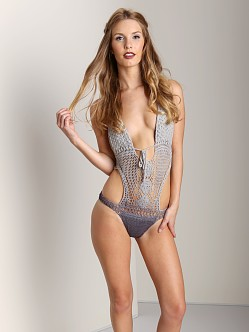 Lisa Maree The Throwback Crochet One Piece Swim Suit Acid