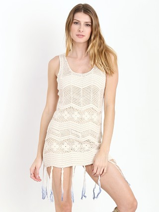 Lisa Maree The Ground Dweller Fringe Crochet Tank Dress Navy