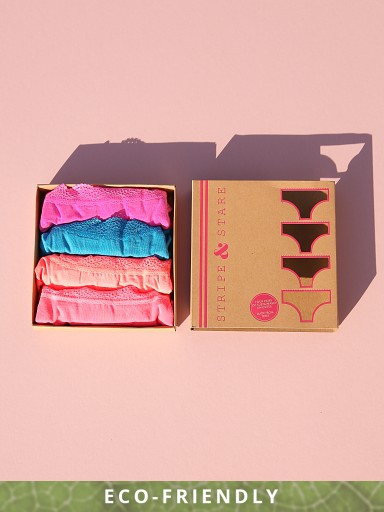 Stripe & Stare Boxed Four Set Knickers Brights