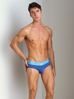 2xist Touch Ultra Contour Pouch No-Show Brief Capri/Jersey Blue