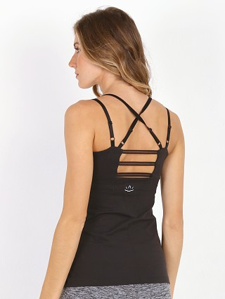Beyond Yoga Mesh Trim Cami Black