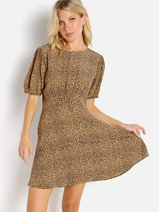 Model in indi animal Faithfull the Brand Sidonie Mini Dress