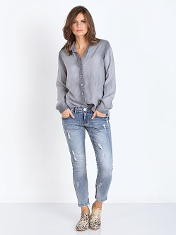Bella Dahl Tulip Hem Button Down Grey Arctic