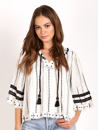 Tularosa Huxley Top Ivory Striped Tribal