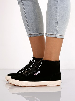 Superga Velvet High Top Sneaker Black