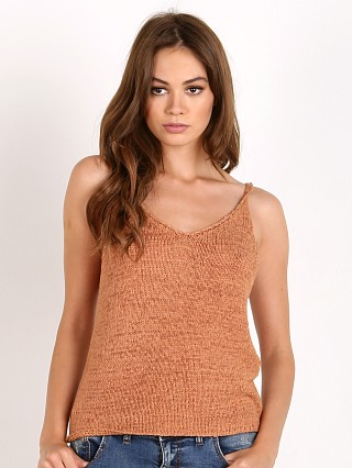 Bella Luxx Tape Yarn Crop Tank Warm Apricot