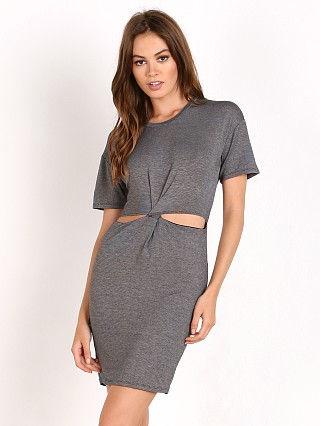 Bella Luxx Jersey Twist Front Dress Black/Bone