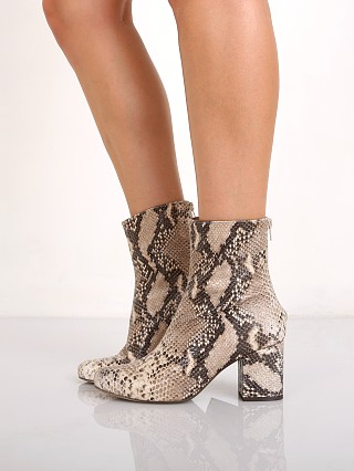 Free People Cecile Ankle Boot Tan Snake