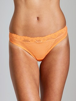 Timpa Duet Lace Low Rise Thong Orange