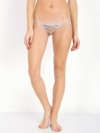 Beach Bunny Love Haus Chevron Sequin Panty Grey/Nude