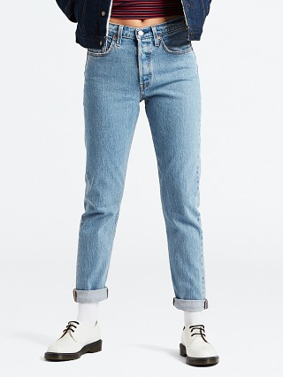 Model in small blessings Levi's 501 Skinny Jeans