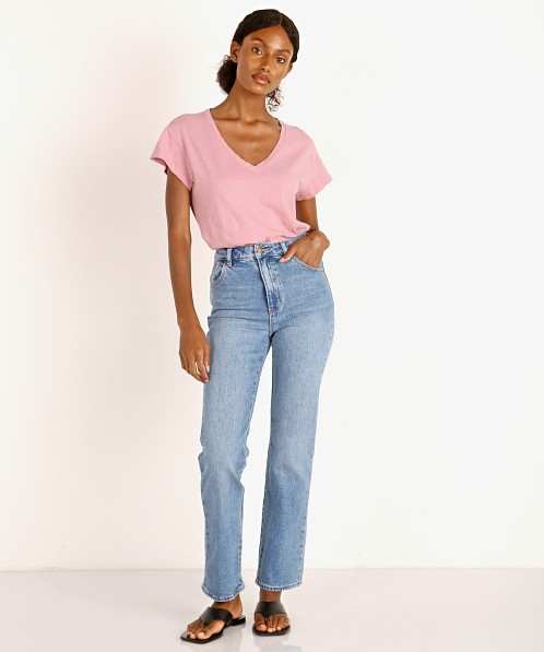 Rollas Original Straight Leg Jeans Brad Blue