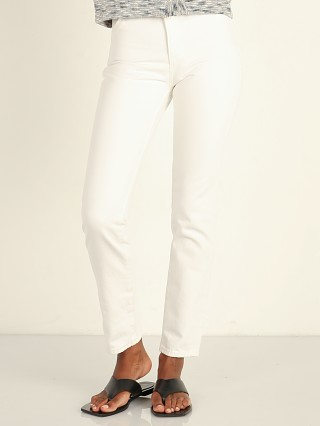 Model in vintage white Rollas Dusters Pant