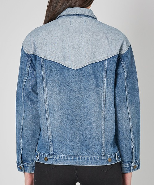 Rollas Slouch Jean Jacket Tumbled Blue