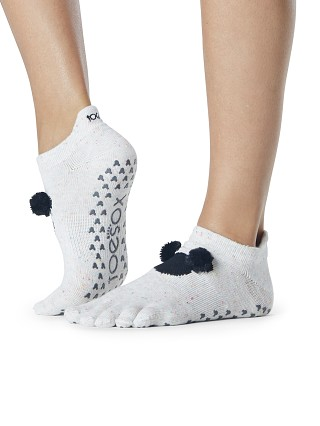 ToeSox x Disney Low Rise Grip Barre Sock Pom Pom Mickey