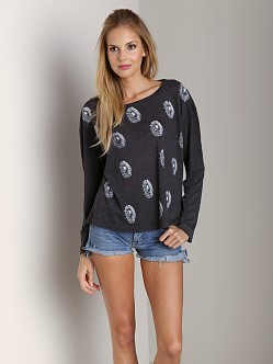 Wildfox Couture Spiderwebs Beach House Tee Black