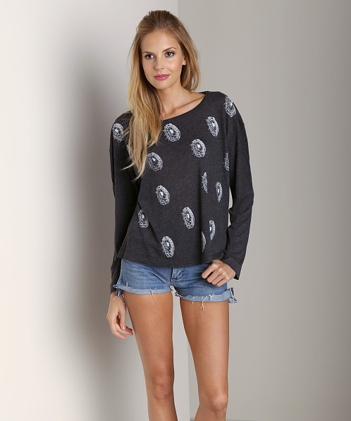 WILDFOX Spiderwebs Beach House Tee Black