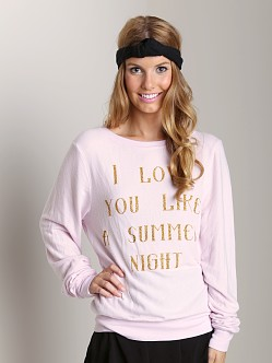 Wildfox Couture Love You Like Summer Night Sweater Daisy