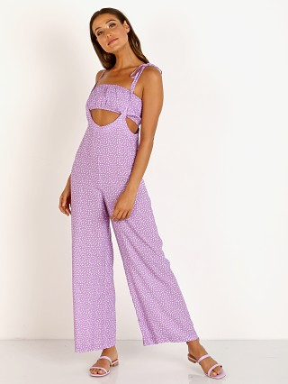Charlie Holiday Daisy Jumpsuit Purple Daisy