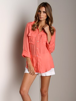 Bella Dahl Patch Pocket Button Down Daiquiri