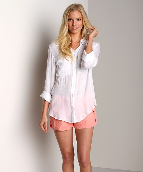 Bella Dahl Patch Pocket Button Down White