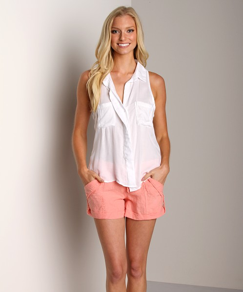 Bella Dahl Summer Linens Pocket Shorts Nectar