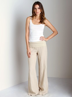 Bella Dahl Summer Linens Roll Over Pant Sand
