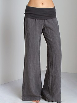 Bella Dahl Summer Linens Roll Over Pant Smoke