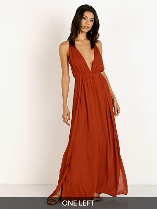 Indah River Plunge Dress Mole