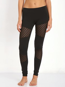 SOLOW Diamond Mesh Legging Black