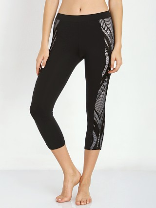 SOLOW Lace Side Panel Legging Black