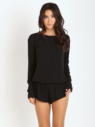 Beach Riot Chulo Long Sleeve Romper Black