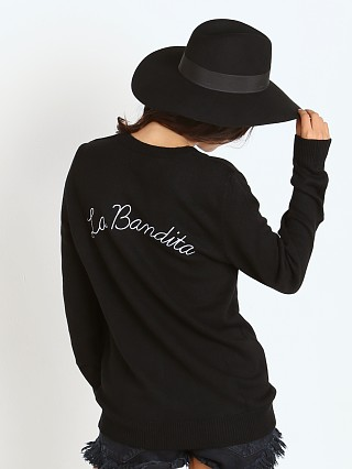 Beach Riot La Bandita Sweater Black