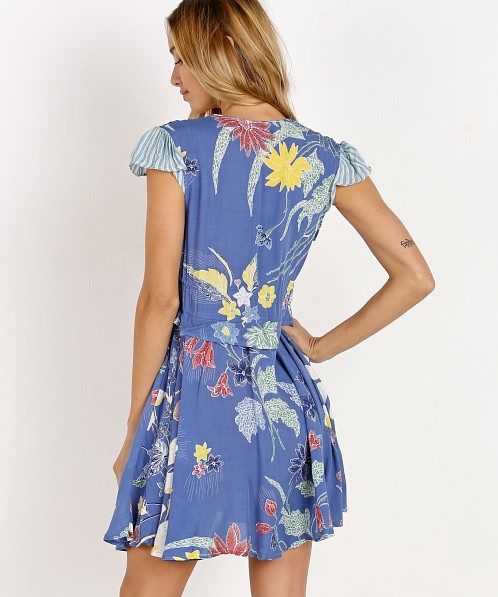 Cleobella Cady Short Dress Blue Rhapsody