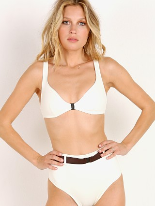 Solid & Striped x SWIM TEAM The Josephine Bikini Top Cream