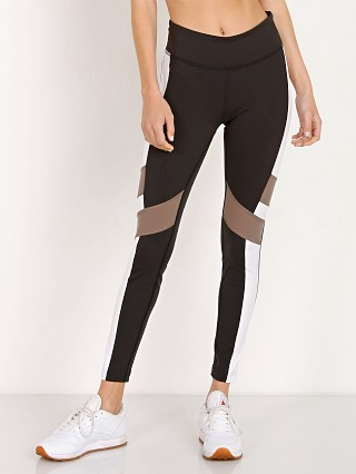 Reebok Lux Color Block Legging Black/White/Tan