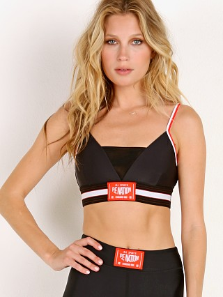 PE NATION Left Hook Bra Black