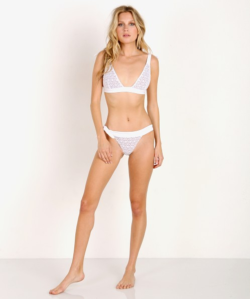 For Love & Lemons Daiquiri Bikini Bottom White Lace